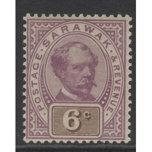 SARAWAK SG13 1888 6c PURPLE & BROWN MTD MINT