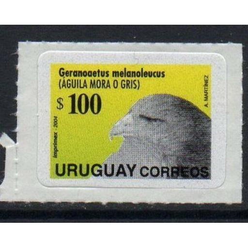URUGUAY SG2922 2004 $100 BIRD SELF ADHESIVE MNH