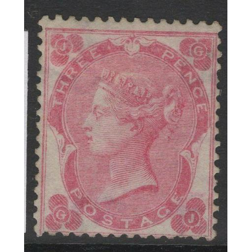 GB SG77 1862-4 PALE CARMINE-ROSE MTD MINT