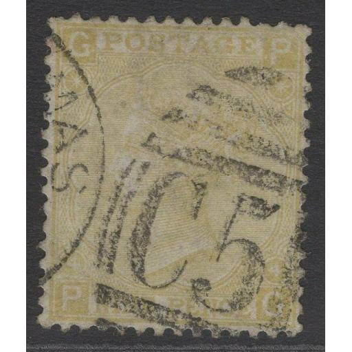 GB USED ABROAD IN DANISH WEST INDIES SGZ26 1867 9d STRAW USED