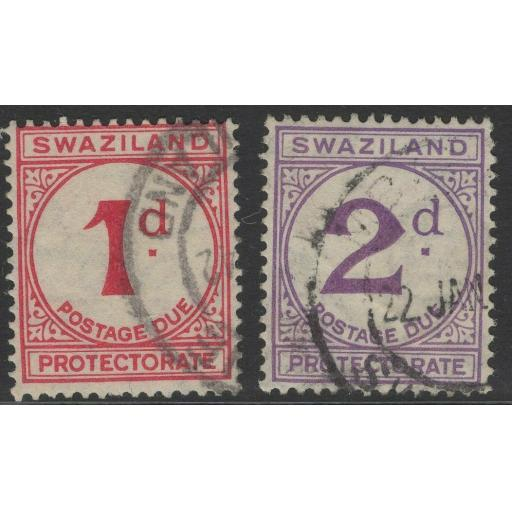 SWAZILAND SGD1/2 1933 POSTAGE DUES FINE USED
