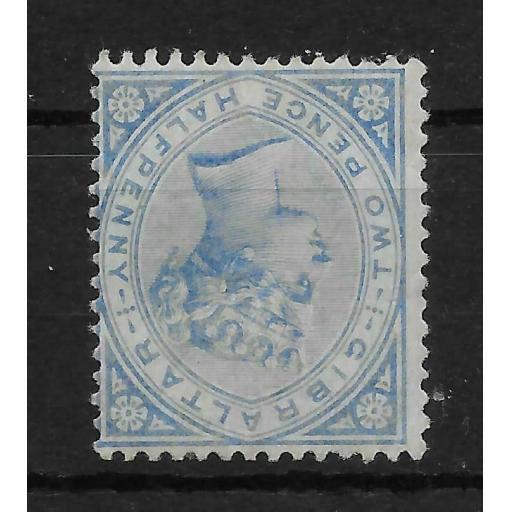 GIBRALTAR SG11w 1886 2d BLUE INV WMK MTD MINT
