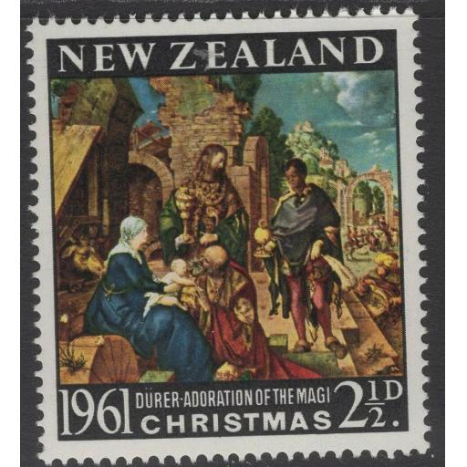 NEW ZEALAND SG809w 1961 CHRISTMAS WMK INVERTED MNH