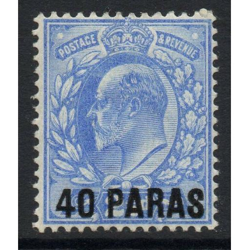 BRITISH LEVANT SG8 1902 40pa on 2½d ULTRAMARINE MTD MINT