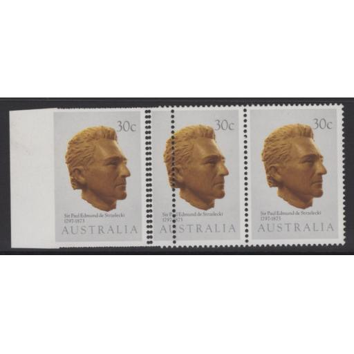 AUSTRALIA SG898var 1983 EXPLORERS 30c IMPERF BETWEEN STAMP & MARGIN(5 KNOWN) MNH