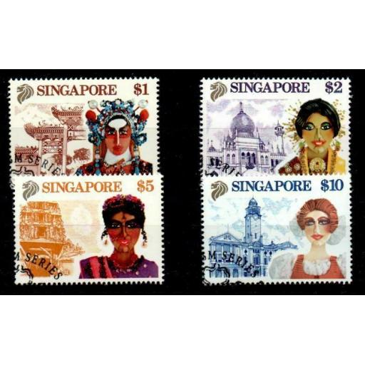 SINGAPORE SG633/6 1990 DEFINITIVE SET HIGH VALUES USED