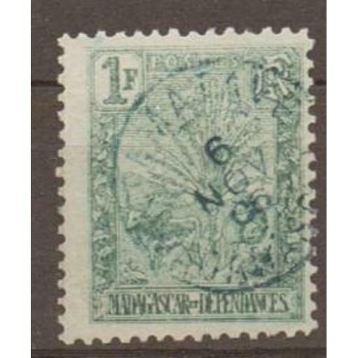 MADAGASCAR SG50 1903 1f GREEN USED
