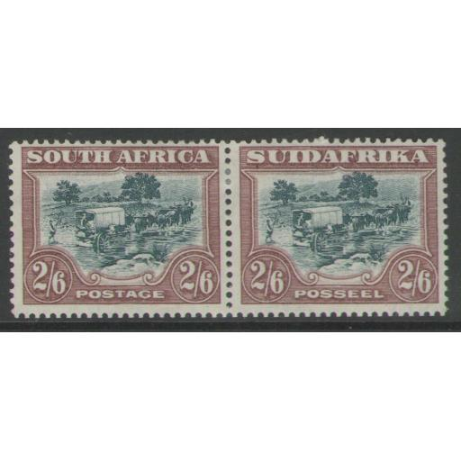 SOUTH AFRICA SG37 1927 2/6 GREEN & BROWN MTD MINT