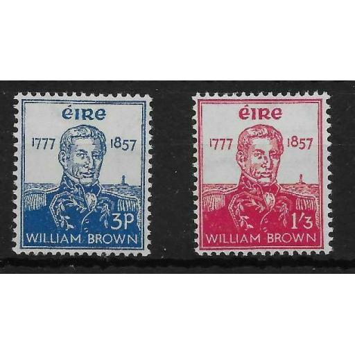 IRELAND SG168/9 1957 ADMIRAL BROWN SET MNH