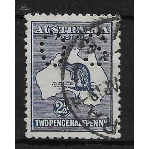 AUSTRALIA SGO4 1913 2½d INDIGO OFFICIAL USED