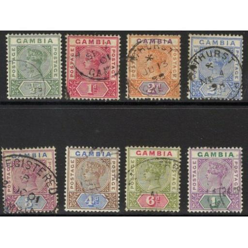 GAMBIA SG37/44 1898 DEFINITIVE SET FINE USED