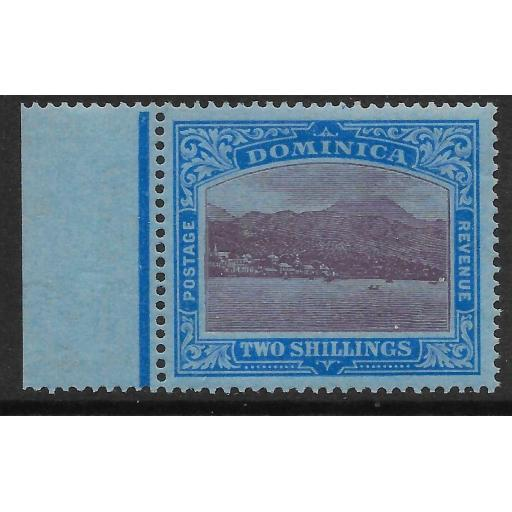 DOMINICA SG69 1922 2/= PURPLE & BLUE ON BLUE MTD MINT