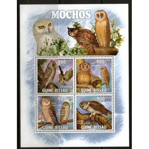 G.BISSAU 2011 OWLS SHEETLET MNH