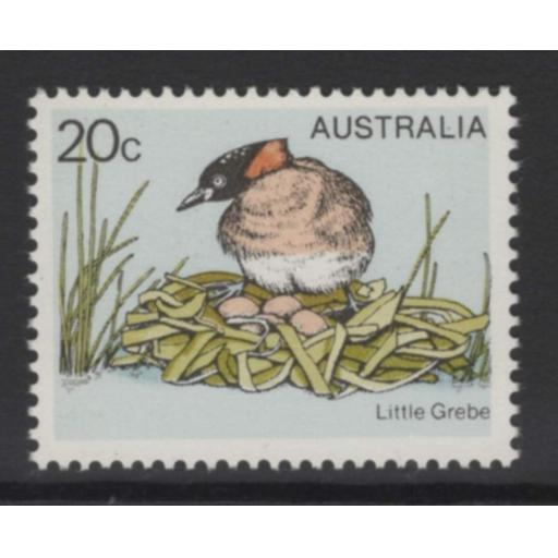 "AUSTRALIA SG673a 1978 GREBE 20c WITH ""YELLOW"" (BEAK & EYE) OMITTED MNH"