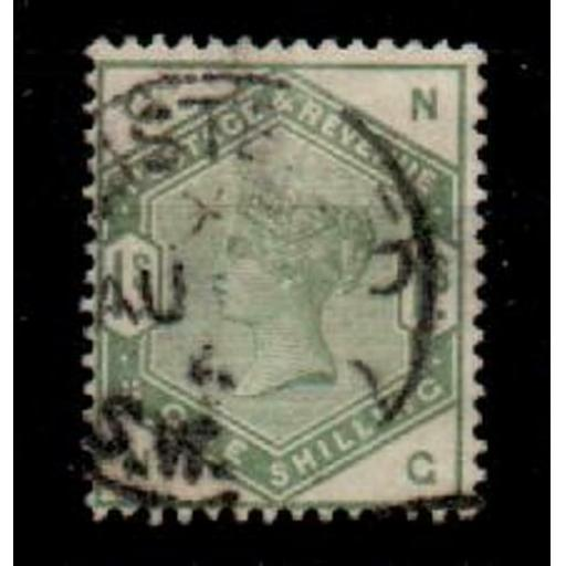 G.B. SG196 1883 1/= DULL GREEN USED