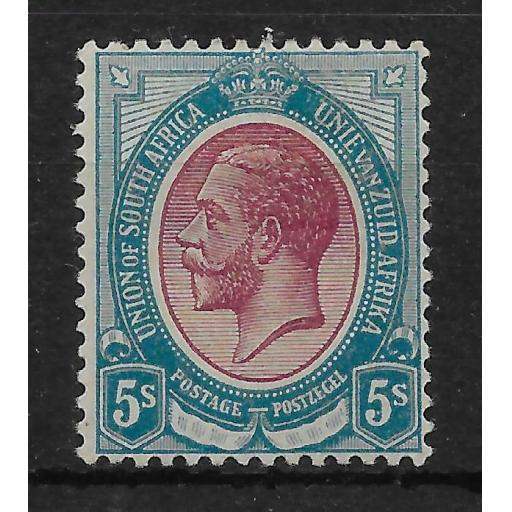 SOUTH AFRICA SG15 1913 5/= PURPLE & BLUE MTD MINT