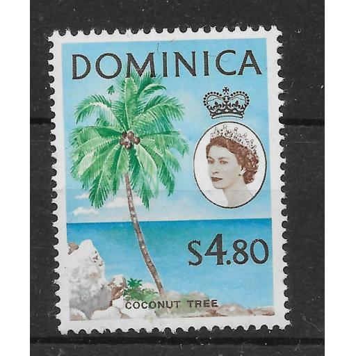 DOMINICA SG178 1963 $4.80 DEFINITIVE MNH