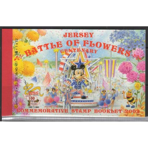 JERSEY SGSB61 2002 BATTLE OF FLOWERS PARADE BOOKLET MNH