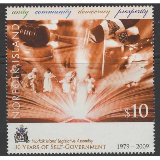 NORFOLK ISLAND SG1072 2009 30th ANNIV OF SELF GOVERNMENT MNH