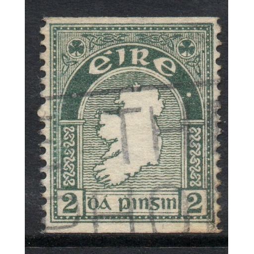 IRELAND SG74a 1934 2d GREY-GREEN IMPERF x p14 USED