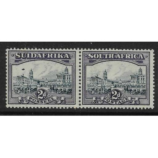 SOUTH AFRICA SG44ea 1938 2d BLUE & VIOLET AIRSHIP FLAW MTD MINT
