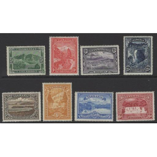 TASMANIA SG229/36 1899-900 DEFINITIVE SET MTD MINT