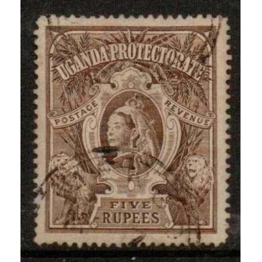 UGANDA SG91 1898 5r BROWN USED