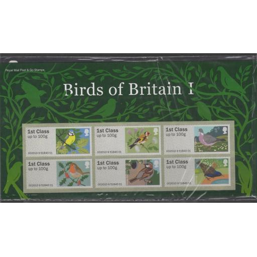 GB SGFS6 2010 POST & GO I (BIRDS) PACK MNH