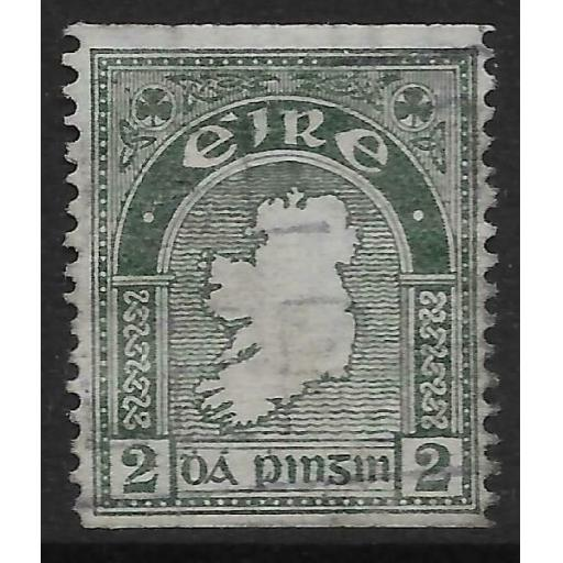 IRELAND SG74a 1934 2d GREY-GREEN IMPxP14 USED