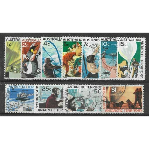 AUSTRALIAN ANTARCTIC TERR SG8/18 1966-8 DEFINITIVE SET USED