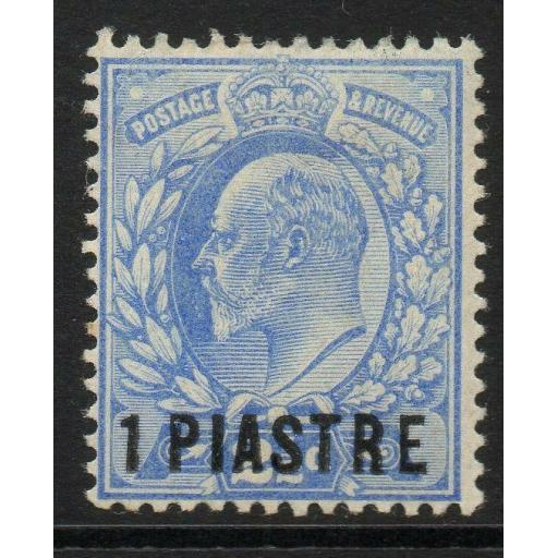 BRITISH LEVANT SG13 1906 1pi on 2½d ULTRAMARINE MTD MINT