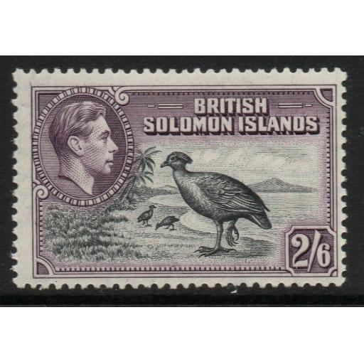 BRITISH SOLOMON IS. SG70 1939 2/6 BLACK & VIOLET MTD MINT
