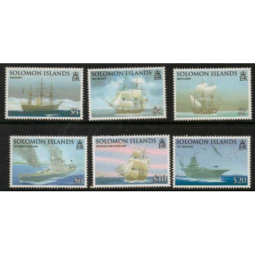 SOLOMON ISLANDS SG1262/7 2009 SEAFARING & EXPLORATION MNH