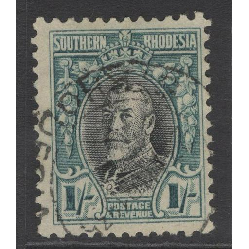 SOUTHERN RHODESIA SG23a 1935 1/= BLACK & GREENISH-BLUE p11½ FINE USED