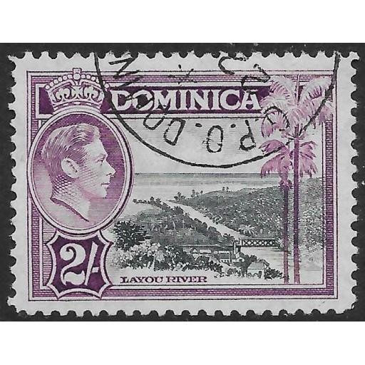 DOMINICA SG106a 1947 2/= SLATE & PURPLE USED