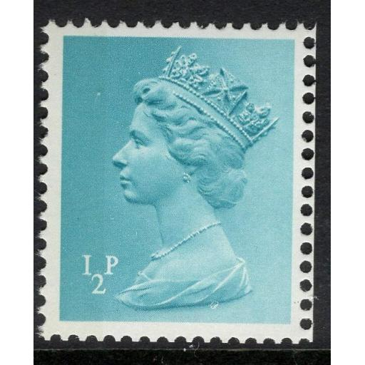 GB SGX842 1971 ½p TURQUOISE LEFT BAND MNH