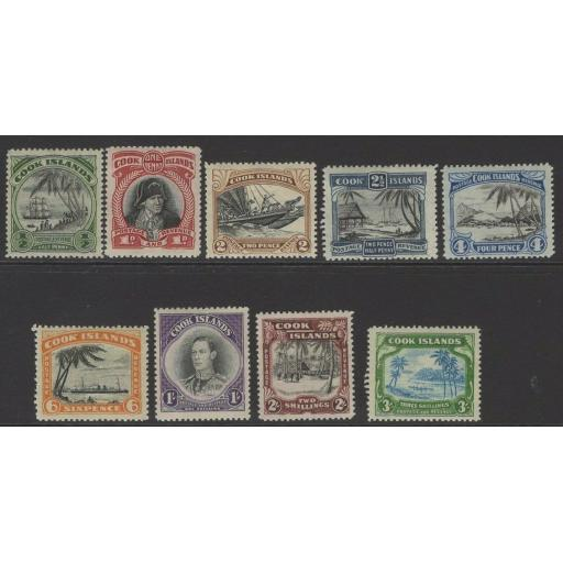 COOK ISLANDS SG137/45 1944-6 DEFINITIVE SET MTD MINT
