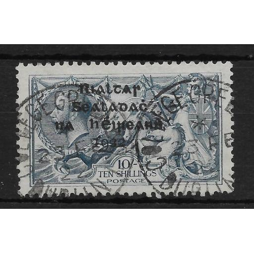 IRELAND SG21 1922 10/= DULL GREY-BLUE USED