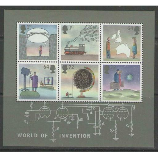 GB SGMS2727 2007 INVENTIONS MNH