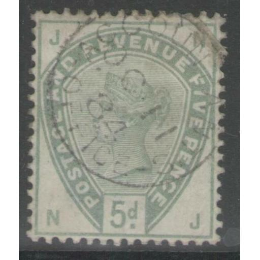G.B. SG193 1883 5d DULL GREEN FINE USED