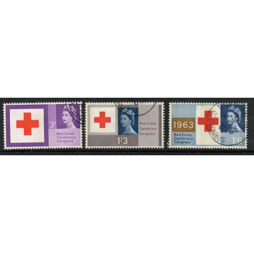 GB SG642p/4p 1963 RED CROSS PHOSPHOR FINE USED