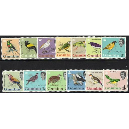 GAMBIA SG193/205 1963 BIRDS MTD MINT