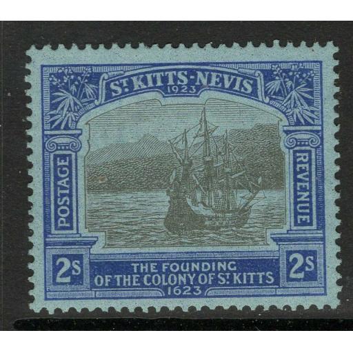 ST.KITTS-NEVIS SG56 1923 2/= BLACK & BLUE/BLUE MTD MINT