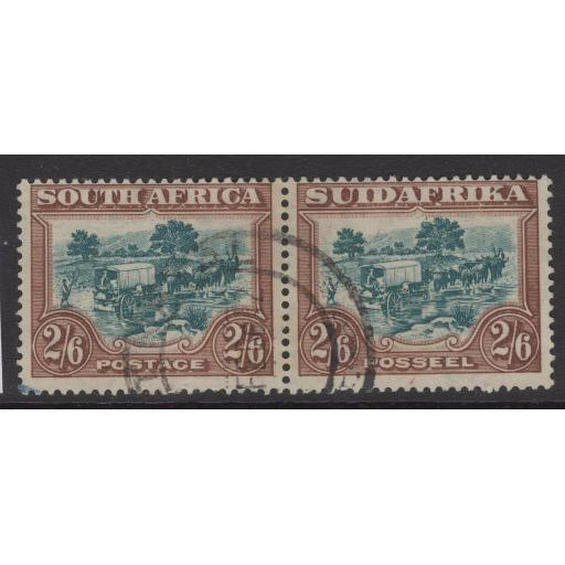 SOUTH AFRICA SG49 1932 2/6 GREEN & BROWN USED