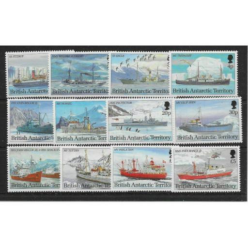 BRITISH ANTARCTIC TERR. SG218/29 1993 SHIPS SET MNH