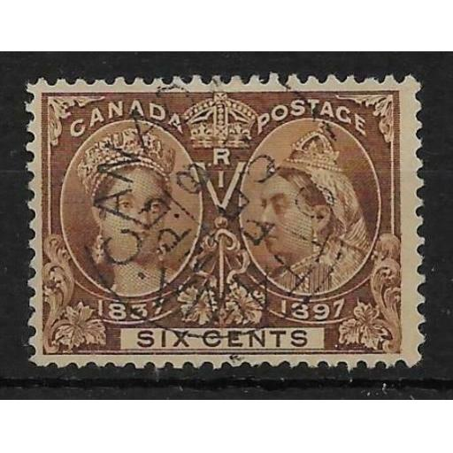 CANADA SG129 1897 JUBILEE 6c BROWN USED