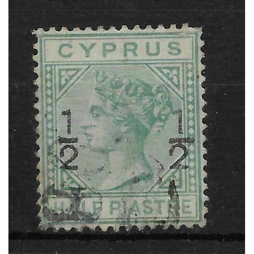 CYPRUS SG23 1882 on pi EMERALD-GREEN USED