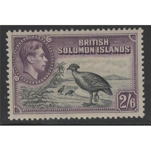 BRITISH SOLOMON IS. SG70 1939 2/6 BLACK & VIOLET MNH