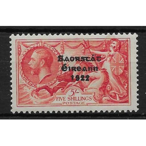 IRELAND SG100a 1935 5/= BRIGHT ROSE-RED FLAT ACCENT VAR MTD MINT