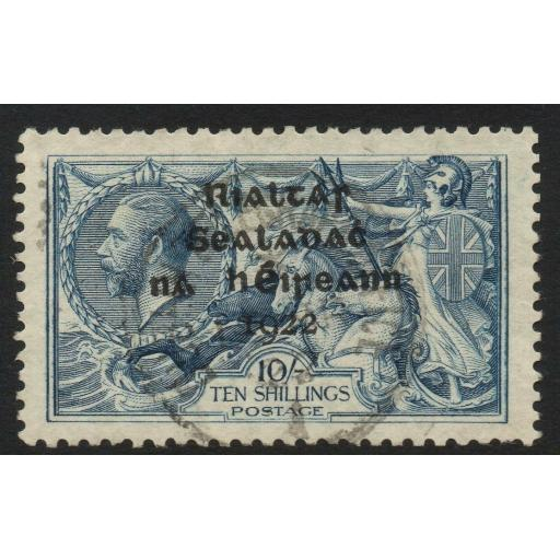 IRELAND SG21 1922 10/= DULL GREY-BLUE FINE USED